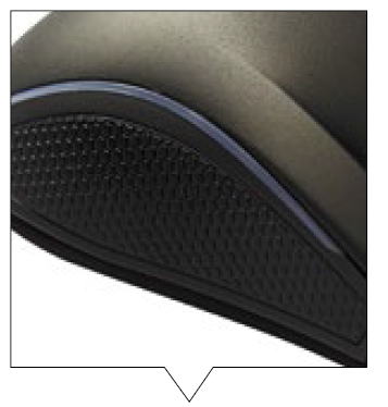 The rubber sides provide a better grip on the mouse.