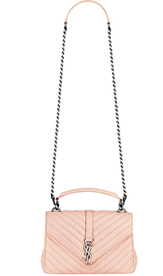 Monogram College leather bag, $3,390, from Saint Laurent.