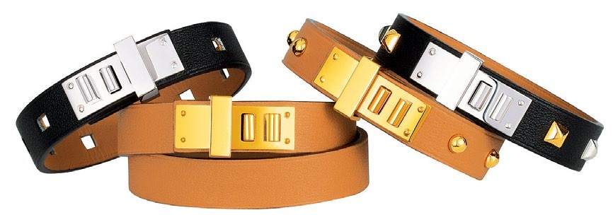 Swift calfskin bracelets, from $600 each