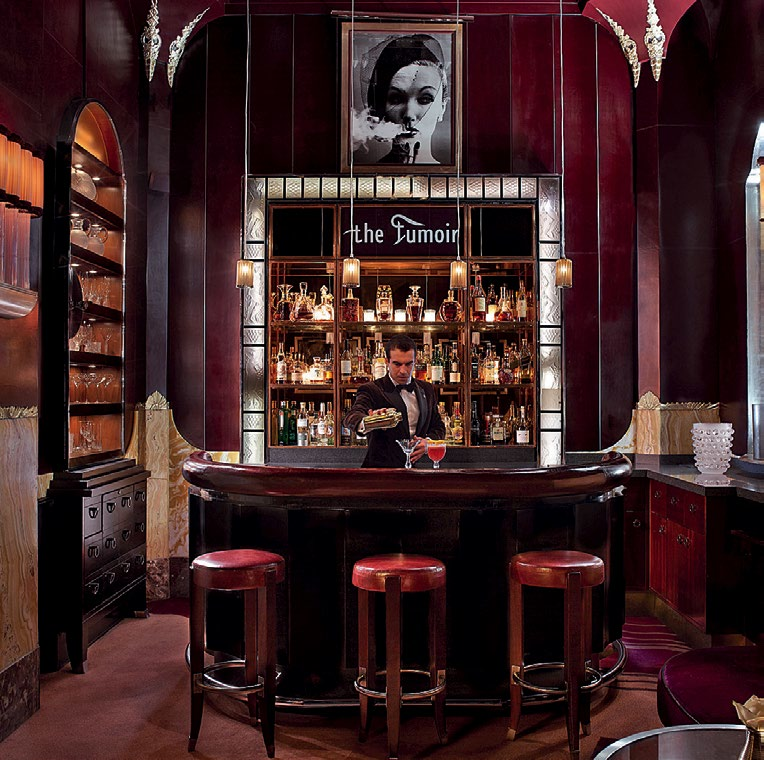 OLD IS GOLD: The Fumoir bar sets itself apart by channelling '30s glamour.