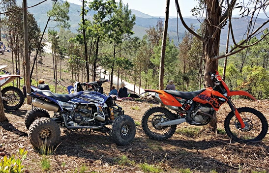 Motorbikes, ATVs and 4x4 sports utility vehicles were popular modes of transport for the rally spectators.