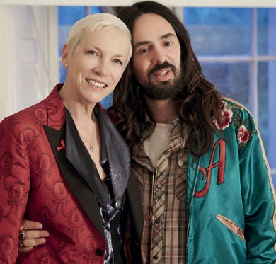 Annie Lennox and Alessandro Michele