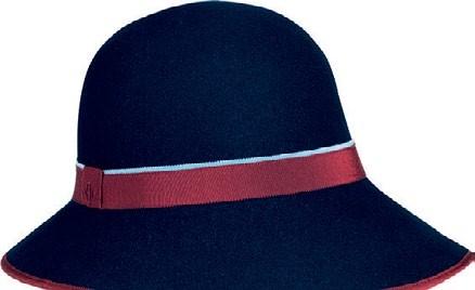 Felt wide-brimmed hat with grosgrain ribbon, &900