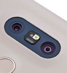 The two rear cameras are functionally different, with one of them having a wider field of view to get more in a shot.