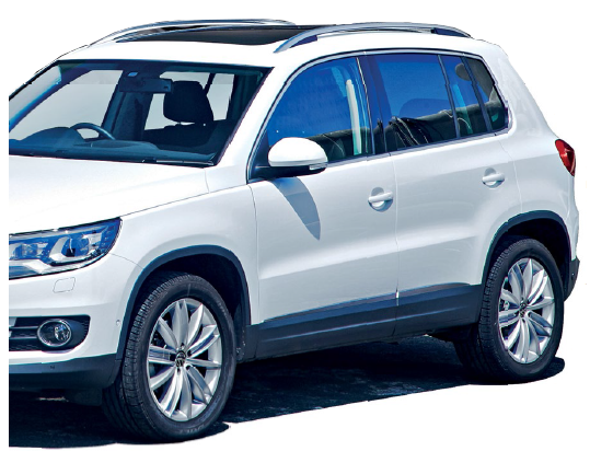 The tiguan and touareg are at opposing ends of the volkswagen suv spectrum.
