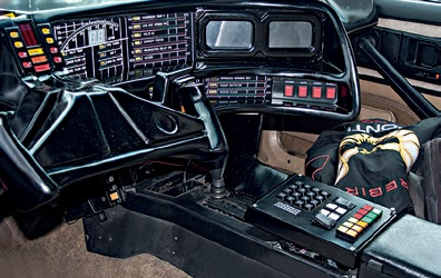 Autonomous cars of the future will have neat touchscreens instead of KITT's messy controls.