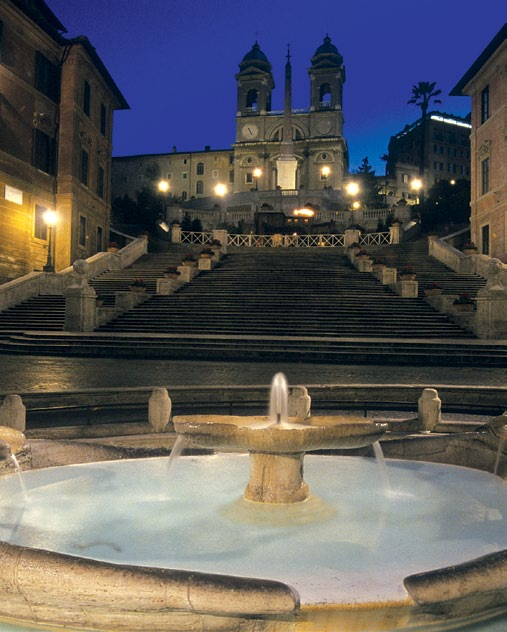 The iconic Spanish Steps.