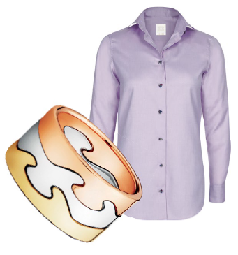 From left: Fusion ring, $3,300, Georg Jensen, Nina Pendente Donna top, $229, Xacus.