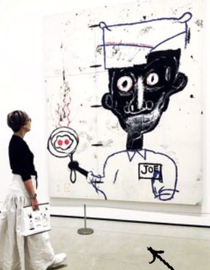 A Basquiat master piece at The Broad museum in LA