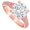 Pink gold, pink and white diamond Legacy ring, Graff Diamonds