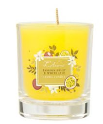 L'Aroma Passion Fruit & White Lily Aroma Candle, $19.90.