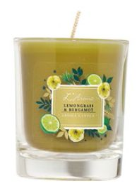 L'Aroma Lemongrass & Bergamot Aroma Candle, $19.90.