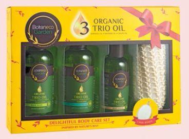 Botaneco Garden Organic Trio Oil Delightful Body Care Set, $15.90.