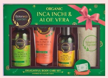 Botaneco Garden Organic Inca Inchi & Aloe Vera Delightful Body Care Set, $15.90.