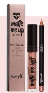 Barry M Matte Me Up Metallic Lip Kit in Couture, $16.90.