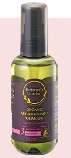 Botaneco Garden Organic Argan & Virgin Olive Oil Hair Serum (Smooth & Shiny), $7.90.