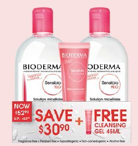 Bioderma Sensibio Power Cleanser Duo Limited Edition, $39.90.