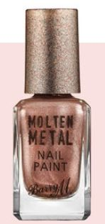 Barry M Molten Metal Nail Paint in Pink Ice, $8.90.