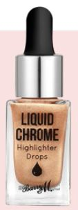 Barry M Liquid Chrome Highlighter Drops in Liquid Fortune, 16.90.