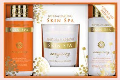 Baylis & Harding Skin Spa Energising Candle Lit Bath Set, $34.90.