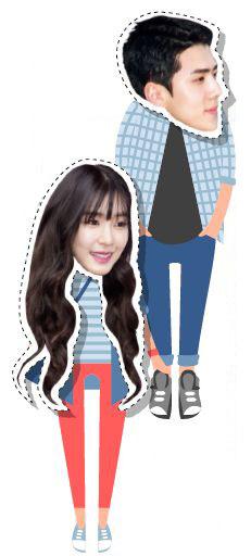 Top: Sehun. Below: Tiffany