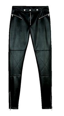 Bershka faux leather biker trouser, $59.90