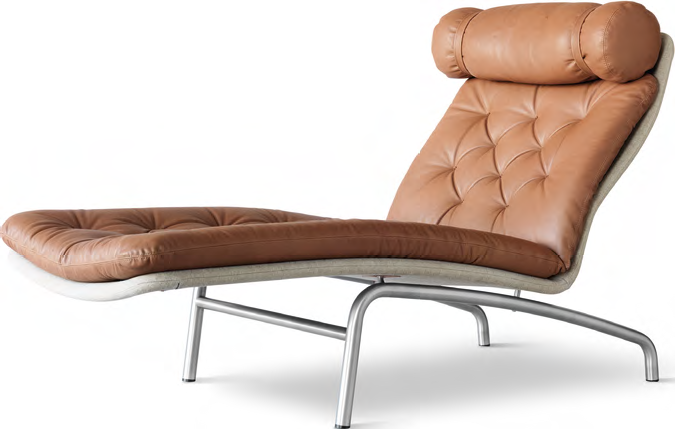 You appreciate Danish design and the classic look of tufted leather.