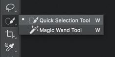 """1 First, Guoxin selects and mask out the Mario using the """"Quick Selection Tool"""" (shortcut key """"W"""")."""