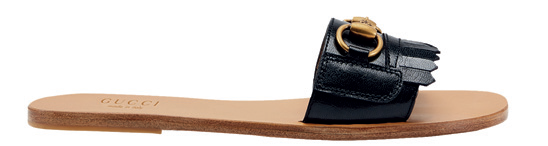 Leather and wood, $930, Gucci.