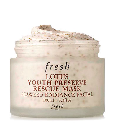 The mask, $105, also has red algae.