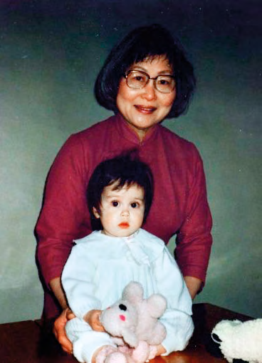 A young Anouska with her poh poh, to whom she attributes her love for colours and patterns.