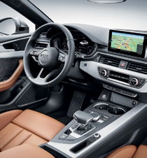 The interior is thoroughly modern, intuitive, and smart.