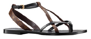 Calf leather and canvas sandals, $1,090.