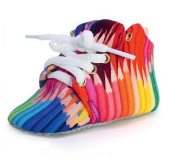 Pointy colours hightop shoes, $18.90, from http://tinypeople.myshopmatic.com