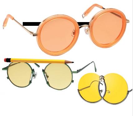 Clockwise from top: Sunglasses, $354; $539; $553, Gentle Monster