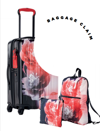 The graphic floral print on the Voyageur collect on makes it a true standout