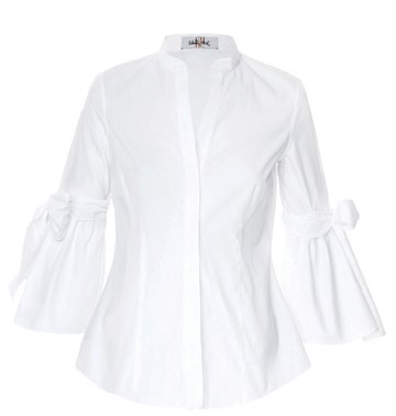 Wear the shirt with pyjamas-style pants for a new take on bedtime dressing