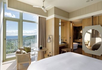 Eco-luxe designs fill the guestrooms