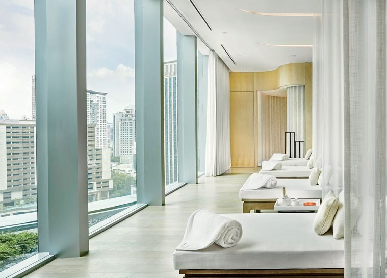 Take in the views of the city at the relaxation lounge.