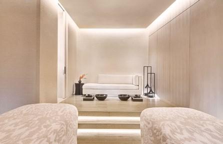 The spacious couple's treatment suite