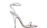 Braided leather ankle-strap sandals, $1,090.