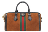 Ophidia medium suede Boston bag, $3,120.