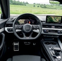 The interior of the S4 is thoroughly modern.