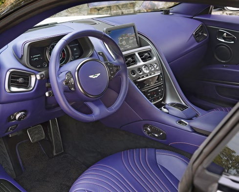 V8's cockpit has noticeably less bling, but customers can still personalise the cabin using the same customisation options available to V12 buyers.