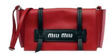 Calf leather bag, $1,730, Miu Miu.