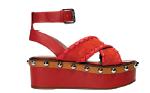 Nappa leather flatform sandals, $1,190, Red Valentino.