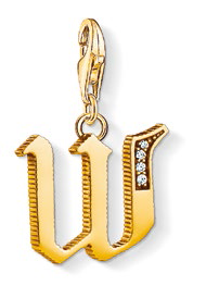 Letter W gold-plated pendant, $109.