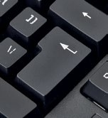 If you're used to the ANSI layout, you'll need to adapt to the ISO-style Enter key.