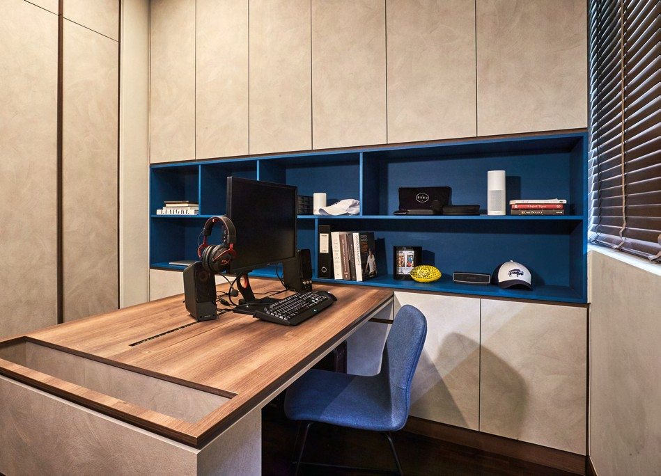 The study is a perfect blend of function and aesthetics.