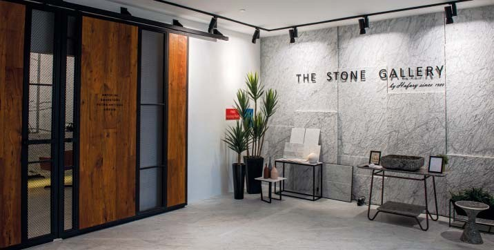 Be inspired by the design of numerous stone feature walls in the showroom.